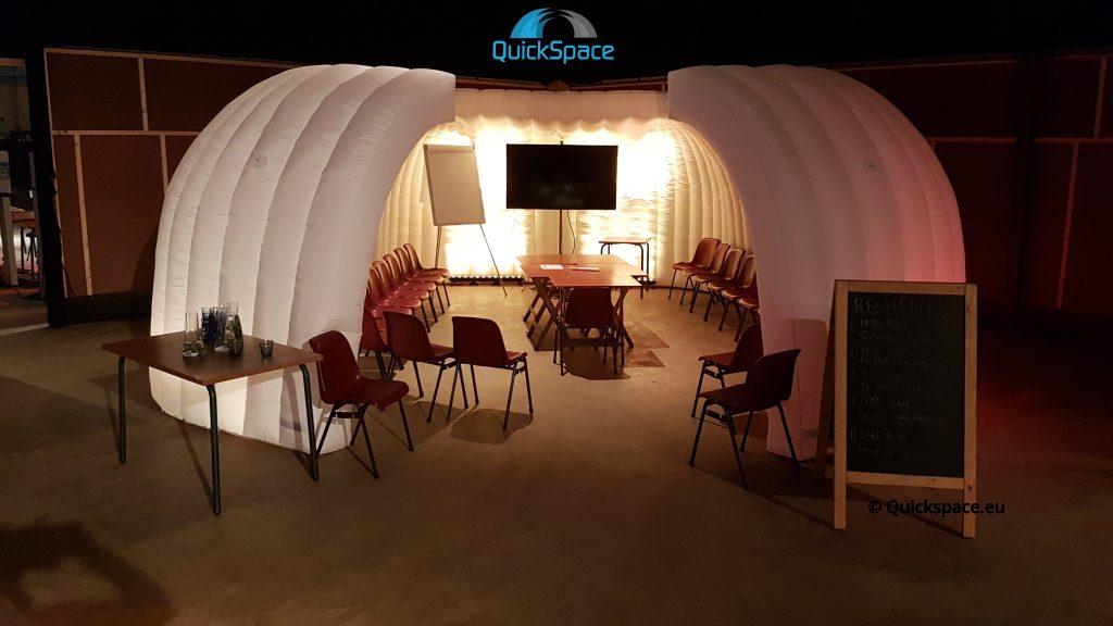 las cúpulas de oficina como ejemplo