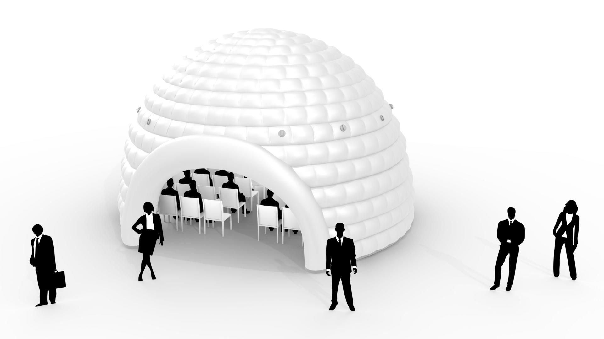 QuickSpace dome 8m vector image