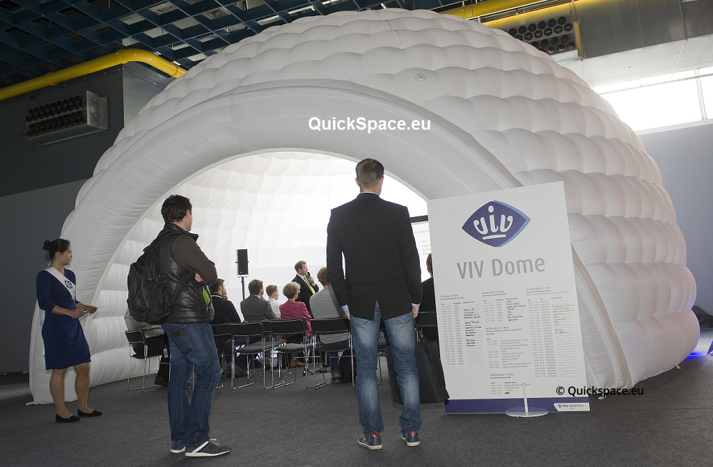 Dome,presentation,workshop,subroom,Trade fair,Quickspace, Sound absorbing,inflatable