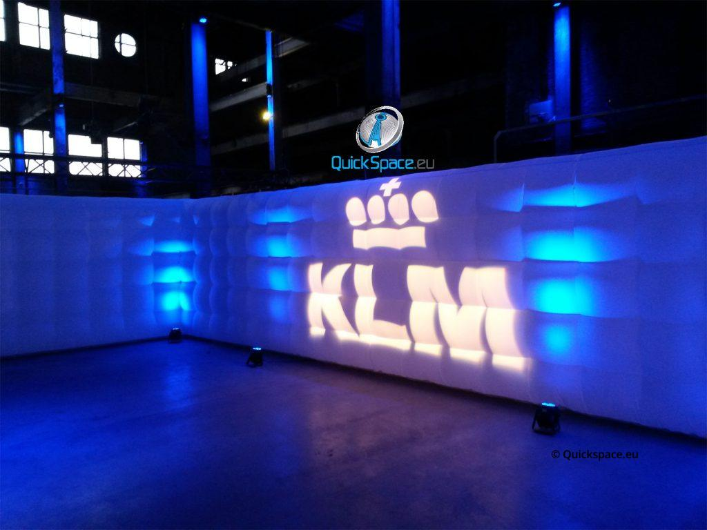 KLM,Wall,Projection,presentation,colorful,sustainable