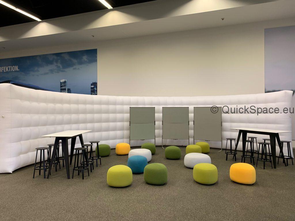 Las paredes curvas QuickSpace