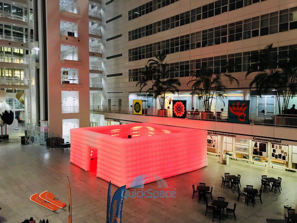 DOMO RED BOXER QUICKSPACE 10M X 10M ROTTERDAM