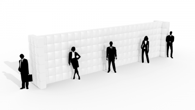QuickSpace straight inflatable wall