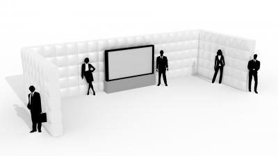 QuickSpace inflatable u-wall
